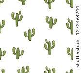 cactus seamless pattern  hand...   Shutterstock .eps vector #1272468244