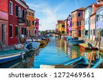 traditional colorful burano... | Shutterstock . vector #1272469561