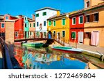 summer on beautiful colorful... | Shutterstock . vector #1272469804