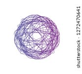tangled circle clew  colored... | Shutterstock .eps vector #1272470641