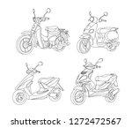 motorbike black line... | Shutterstock .eps vector #1272472567