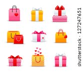 set of colorful gift boxes | Shutterstock .eps vector #127247651