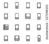 mobile phone icons | Shutterstock .eps vector #127248101