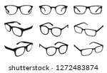 glasses icons   different angle ...   Shutterstock .eps vector #1272483874
