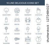 delicious icons. trendy 16... | Shutterstock .eps vector #1272484327