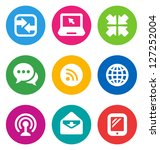 color circular communication... | Shutterstock .eps vector #127252004