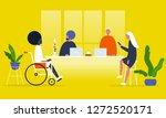 office life. diversity...   Shutterstock .eps vector #1272520171