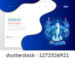 isometric businnes start up for ... | Shutterstock .eps vector #1272526921