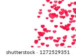 valentine day pink red hearts... | Shutterstock . vector #1272529351
