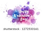 happy valentine's day   modern... | Shutterstock .eps vector #1272533161