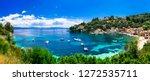 scenic ionian islands of greece ... | Shutterstock . vector #1272535711