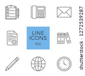 business related line icons set.... | Shutterstock . vector #1272539287