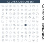 face icons. trendy 100 face... | Shutterstock .eps vector #1272539497