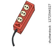 extension cord icon. vector... | Shutterstock .eps vector #1272544327