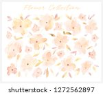 elegant abstract watercolor... | Shutterstock . vector #1272562897