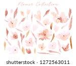elegant abstract watercolor... | Shutterstock . vector #1272563011