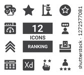 ranking icon set. collection of ... | Shutterstock .eps vector #1272577081