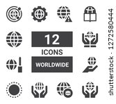 worldwide icon set. collection... | Shutterstock .eps vector #1272580444