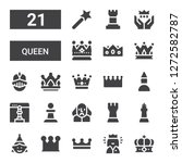 Queen Icon Set. Collection Of...