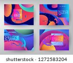 horizontal banners set with... | Shutterstock .eps vector #1272583204