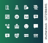 opinion icon set. collection of ... | Shutterstock .eps vector #1272586441