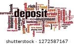 deposit word cloud concept.... | Shutterstock .eps vector #1272587167
