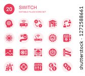 switch icon set. collection of... | Shutterstock .eps vector #1272588661