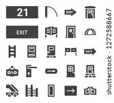 exit icon set. collection of 21 ... | Shutterstock .eps vector #1272588667