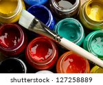 paints and brushes | Shutterstock . vector #127258889