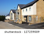 houses on a typical english... | Shutterstock . vector #127259009