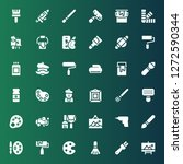 painter icon set. collection of ... | Shutterstock .eps vector #1272590344