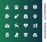 vet icon set. collection of 16... | Shutterstock .eps vector #1272594454