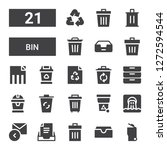 bin icon set. collection of 21...   Shutterstock .eps vector #1272594544