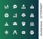workplace icon set. collection... | Shutterstock .eps vector #1272594607