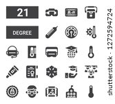 degree icon set. collection of... | Shutterstock .eps vector #1272594724