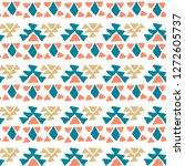 ethnic pattern. aztec geometric ... | Shutterstock .eps vector #1272605737