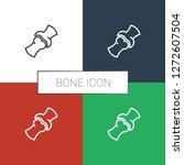bone icon white background.... | Shutterstock .eps vector #1272607504