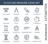 measure icons. trendy 16... | Shutterstock .eps vector #1272607534