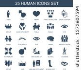 human icons. trendy 25 human... | Shutterstock .eps vector #1272607594