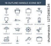 16 handle icons. trendy handle... | Shutterstock .eps vector #1272608134