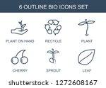 6 bio icons. trendy bio icons...   Shutterstock .eps vector #1272608167