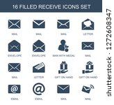 16 receive icons. trendy... | Shutterstock .eps vector #1272608347