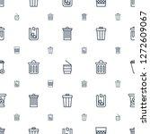 bin icons pattern seamless...   Shutterstock .eps vector #1272609067