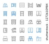 cabinet icons set. collection... | Shutterstock .eps vector #1272610984
