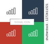 signal icon white background.... | Shutterstock .eps vector #1272611521