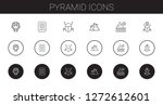 Pyramid Icons Set. Collection...