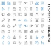 domestic icons set. collection... | Shutterstock .eps vector #1272614761