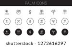 palm icons set. collection of... | Shutterstock .eps vector #1272616297