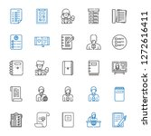 notepad icons set. collection...   Shutterstock .eps vector #1272616411