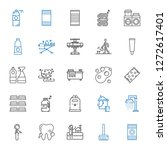 clean icons set. collection of... | Shutterstock .eps vector #1272617401